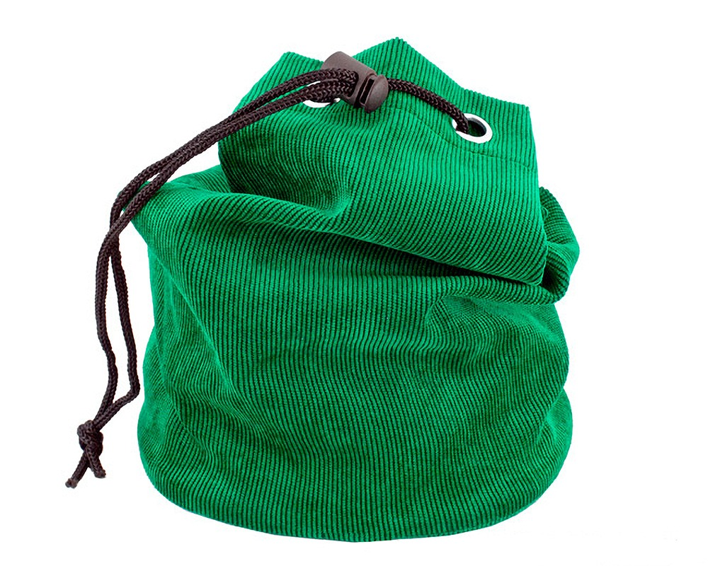 Green Fabric Chess Piece Bag