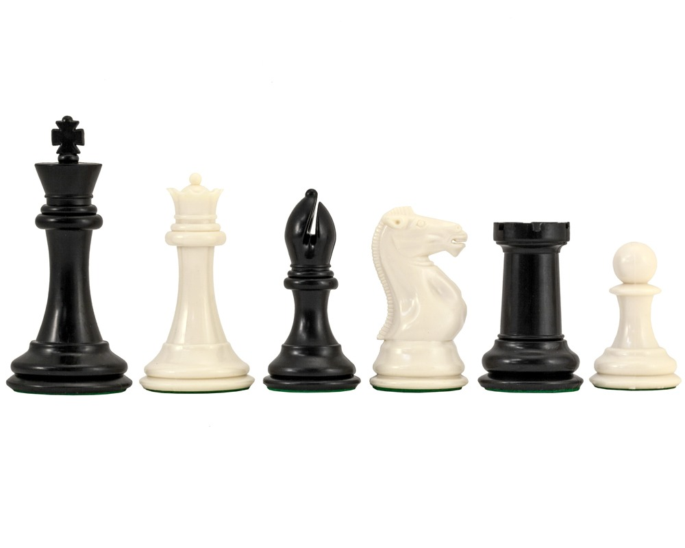Conqueror Weighted Staunton Chess Pieces 4 Inches Plastic