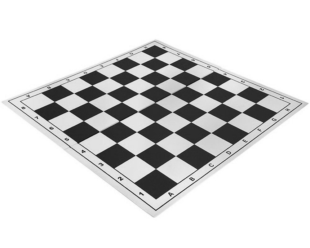 20 Inch Folding Vinyl Chess Board Black
