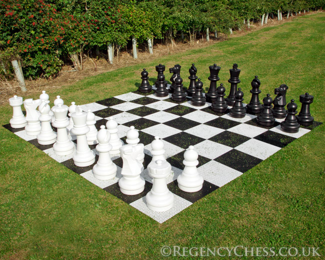 Exceptional Giant Luxury Garden Chess Set