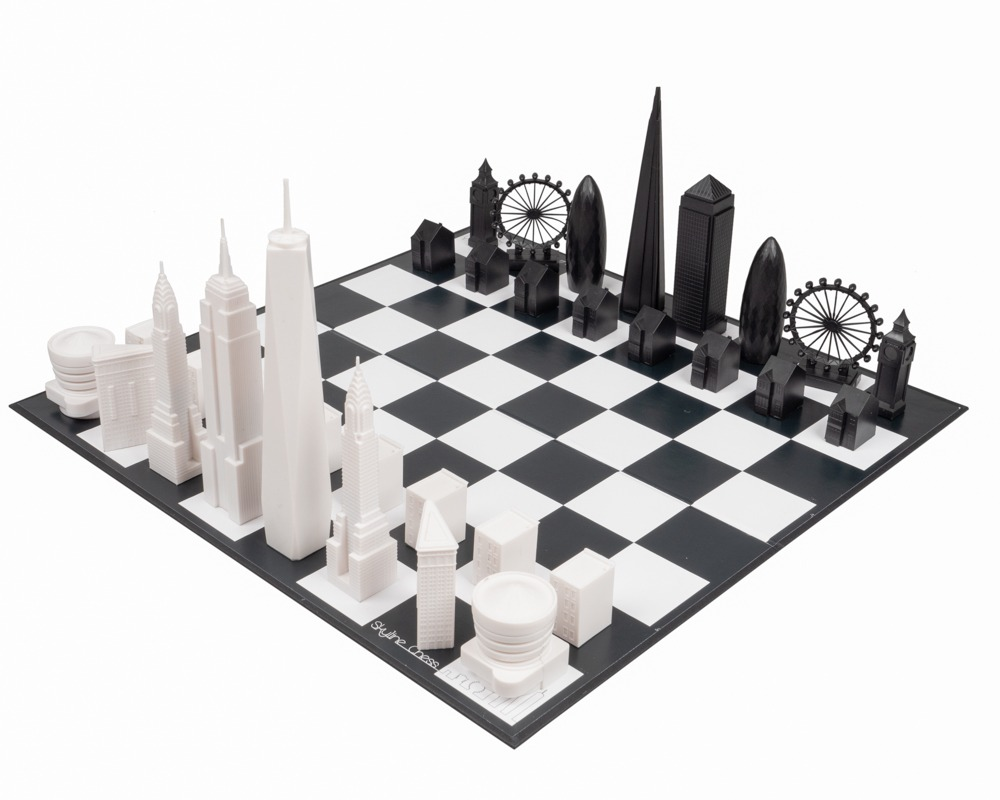 Skyline New York vs London Special Edition Chess Set (PLEASE READ DESCRIPTION)