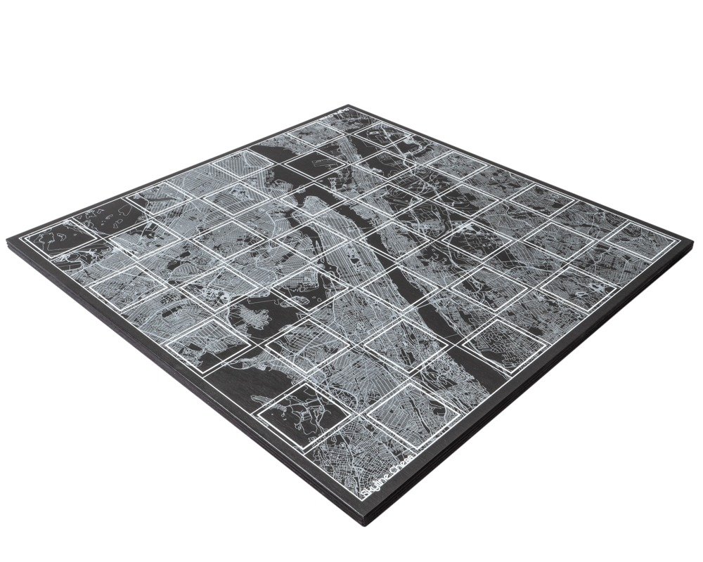 Skyline New York Map Chess Board