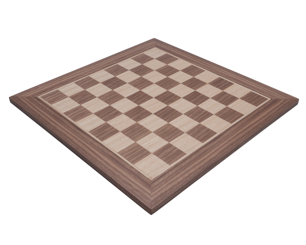 Manopoulos Walnut Chess Board 16 inch (40cm)