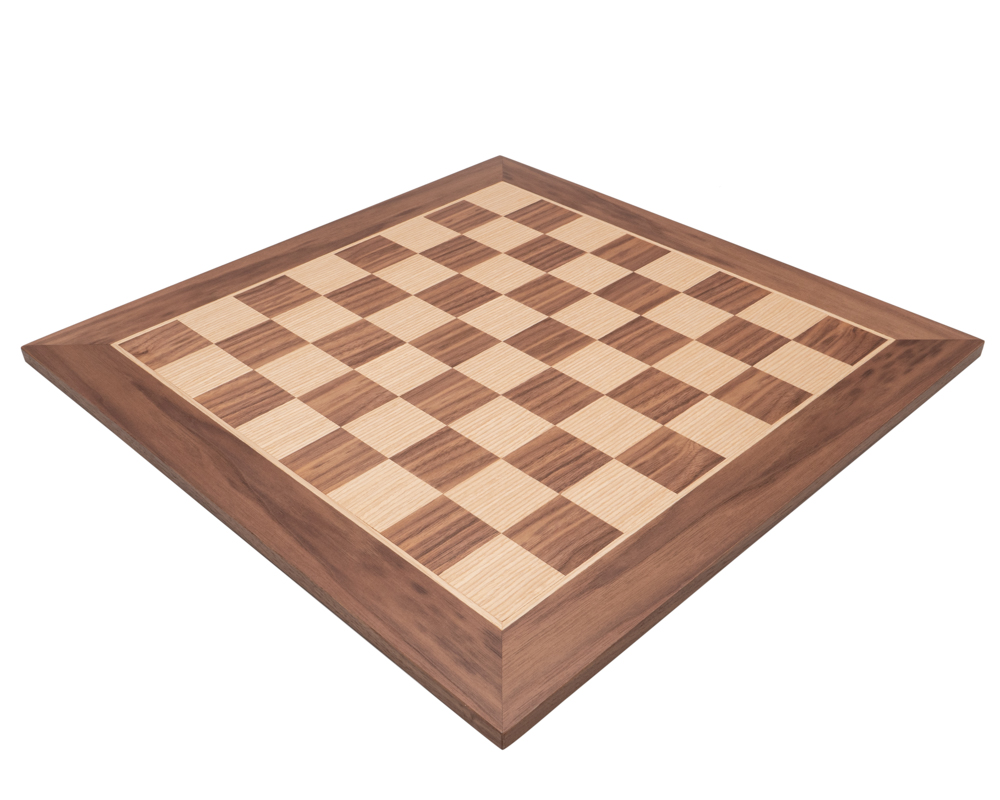 Manopoulos Walnut Chess Board 20 inch (50 cm)