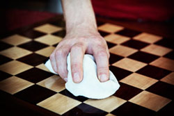 polishing chess board